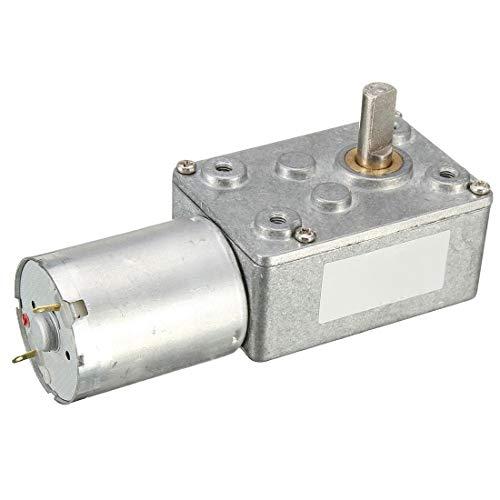 MOZUSA 12V 12 RPM JGY370 Gusano Turbo Motor del Engranaje de ángulo Recto del Motor del Engranaje del Metal de la Caja de Cambios Herramientas