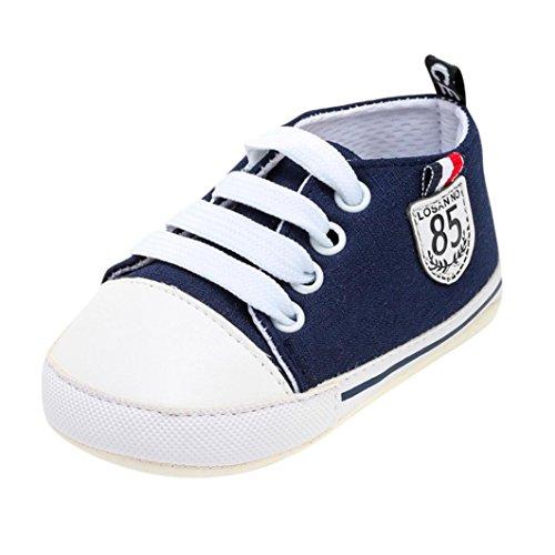 OdeJoy Baby Mädchen Jungen Brief Drucken Schuhe Solide Weich Sohle Einzig Alleinig Beiläufig Schuhe Digital Gedruckte Babyschuhe Kleinkindschuhe Halloween Karikaturschuhe (Dunkel Blau,13)