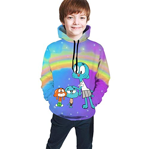 maichengxuan The Amazing World of Gumball Fun Teen Hooded Sweater Black Comfortable Classic Boy Girl