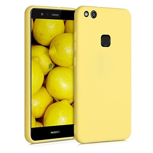 kwmobile Custodia Compatibile con Huawei P10 Lite - Cover in Silicone TPU - Back Case per Smartphone - Protezione Gommata Giallo Matt