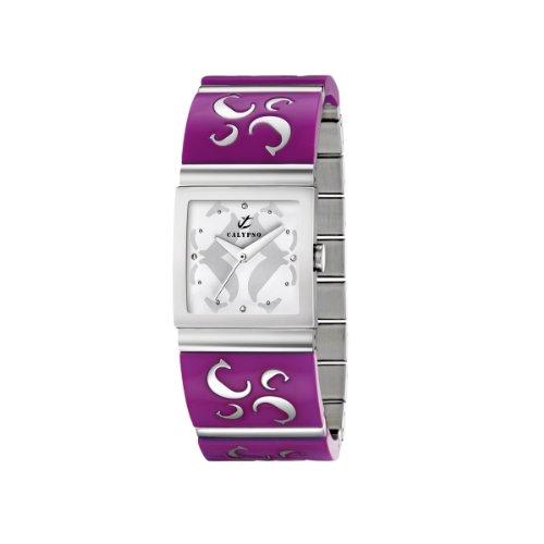 Calypso 5203/6 - Reloj de Mujer de Cuarzo, Correa de Acero Inoxidable Color Morado