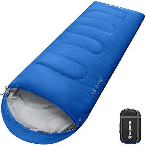 KingCamp XL Extra Large Sleeping Bag, 4 Season Cold Weather 0 Degree Lightweight Compact Waterproof Big Tall Adult Sleeping Bag with Compression Sack for Camping, Hiking, Backpacking, Youth, Men, Boy