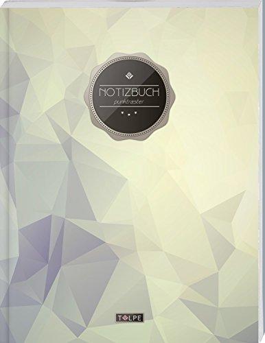 """TULPE Punktraster Notizbuch A4 """"C142 Diamant"""" (140+ Seiten, Vintage Softcover, Punktkariertes Papier - Bullet Journal, Dickes Notizheft, Skizzenbuch, Tagebuch, Gepunktete Seiten, Dot Grid Notebook)"""