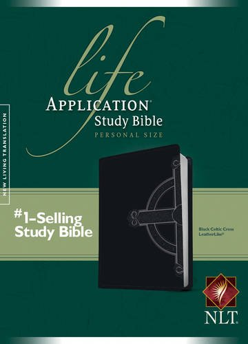 NLT Life Application Study Bible, Second Edition, Personal Size, Celtic Cross Edition (LeatherLike, Black)