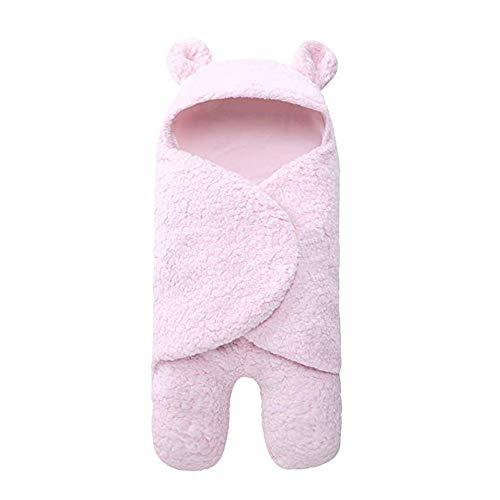 Covermason Hiver Gigoteuses Couverture Chaud Hiver Gigoteuse d'emmaillotage avec Pieds Séparé Bébé Fille Garçon en Velours Corail Nids d'ange Sac de Couchage (Pink)