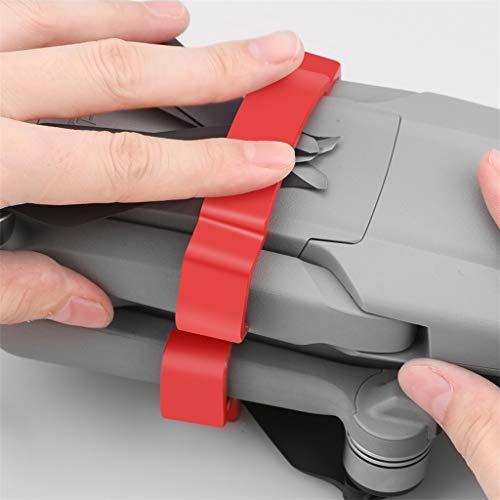 DJFEI Propeller Halter Stabilisator für Mavic Air 2 Drohnen, 2PC Propellerhalter Klingenhalterung Propeller Klinge Fixer Stabilisatoren Transportschutz Paddelclip (Rot)
