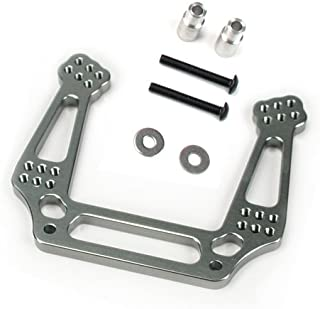 Atomik RC Alloy Front Shock Tower, Grey fits the Traxxas 1/10 Slash and Other Traxxas Models - Replaces Traxxas Part 3639
