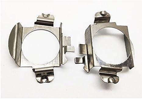 KOOMTOOM 4Pcs Metal H7 Bulb Retainer LED Lamp Base Adapter Socket Base for Mercedes Benz C//B//GLA//GL//GL S Series Ford Edge LED-K04B