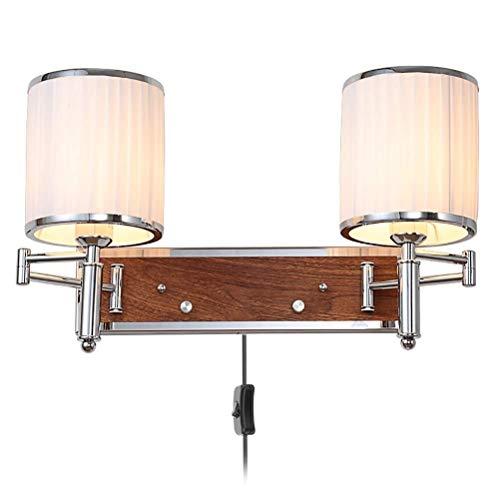 Plafondlamp Wandlamp, verstelbare metalen arm Muurlampen, USB-poort, met Switch, Living Room Gang van het bureau Slaapkamer E27 Lamp van de Muur