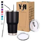 Y·JH 30oz (850ml) Vaso de Viaje de Taza de café con Aislamiento al vacío de...