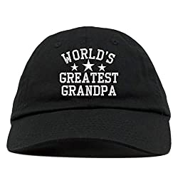 professional HIGH LEVEL CLOTHING Black soft cotton baseball cap with the world's largest grandfather embroidery