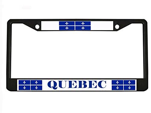 Quebec Kanada schwarz Metall Nummernschild Rahmen Tag Halter...
