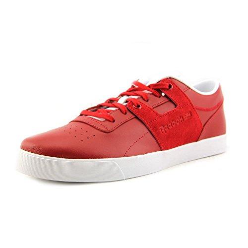 Reebok Herren Workout Low Clean FVS Sneaker, Rot (Ausgezeichnetes Rot/Weiß.), 40 EU