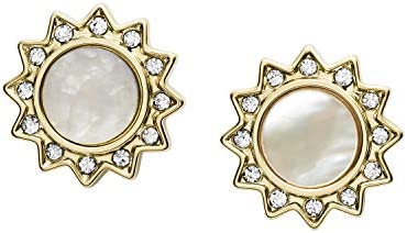 Fossil You Are My Sunshine Mother of Pearl Stainless Steel Stud Earrings Gold MOP Sunshine Standard product image