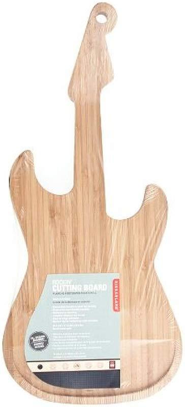 Kikkerland Bamboo Guitar Cutting Board
