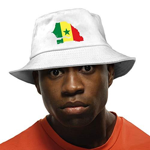 Arehji Senegal Sombrero de Sol Protección UV Gorra de Verano Unisex Plegable Cubo Sombrero Negro
