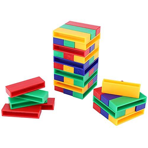 Pssopp 45 Piezas de Juguete de Bloque Inteligente para niños, Juguete de Pila Inteligente de plástico, Bloque de construcción, Juguete Educativo