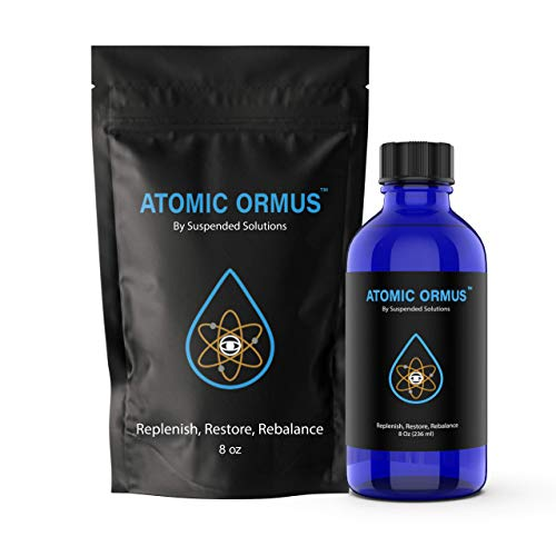 Suspended Solutions - Atomic ORMUS - 8oz - Monoatomic Gold Ormus - Memory AID, ENERGETICALLY Enhanced, REJUVENATING, Increased Energy, Stamina, Vitality - Gold, Platinum, Iridium