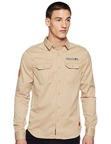 Superdry Camisa de hombre con parche Rookie Repair Shirt