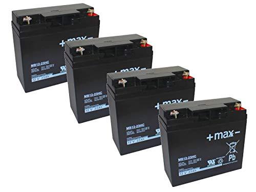 Kompatibler Akku Accu Eco Engel 501 500W 48V 4x 12V Ersatz Batterie wiederaufladbar