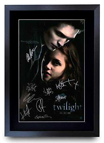 HWC Trading Crepúsculo Actor Robert Pattinson Kristen Stewart Regalos Carteles Impresos Autógrafos Imagen Al Cine Recordaba De Aficionados - A3 Enmarcados