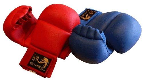 Karate Kumite Faustschützer 4Finger blau, Gr. XL