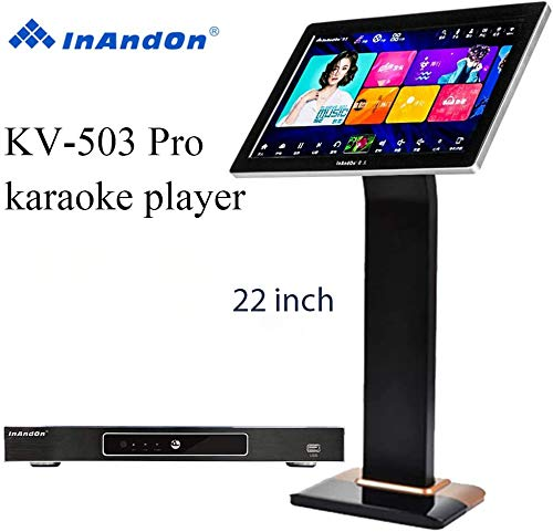 """InAndon KV-503 Pro Karaoke Player 6T, 21.5'' Capacitive Touch Screen Intelligent Voice Keying Machine Real-time Score The Latest Style (KV-503 Pro +6T+21.5"""" Touch Screen)"""