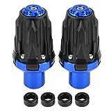KIMISS 1 Paar Universal Motorrad Anti-Crash Rahmen Sliders Protektoren Sturzpad Schutz(Blau)