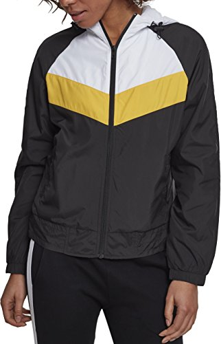 Urban Classics Damen Ladies 3-Tone Windbreaker Jacke, Mehrfarbig (Black/White/Chromeyellow 01302), Medium (Herstellergröße: M)