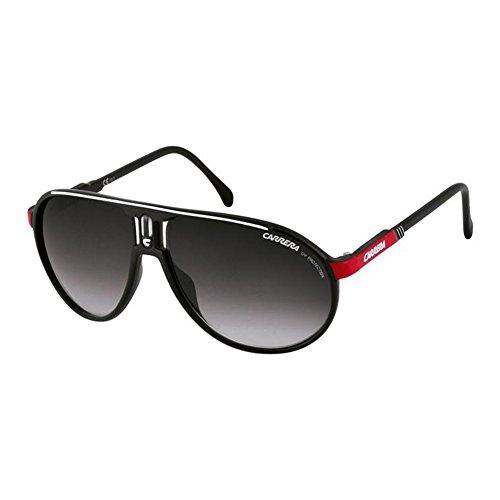 Carrera Champion, Gafas de sol Aviador Unisex, Negro (BLKWHTRED), 62 mm