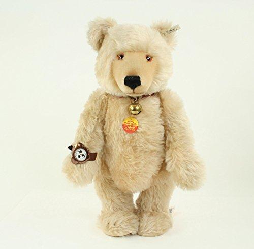 STEIFF Teddybär mit Uhr, Mohair, limitiert, Sammlertier, Sammlerstück