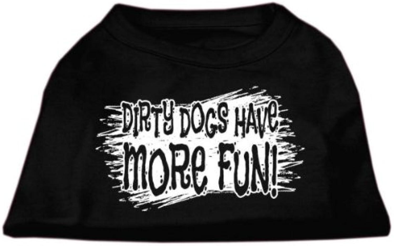Dog   Cat   Pet Charms Dirty Dogs Screen Print Shirt Black XXXL (20)