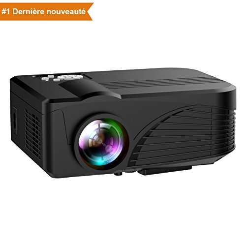 Projecteur 1080P LED Full HD Portable, NickSea Mini Vidéoprojecteur...