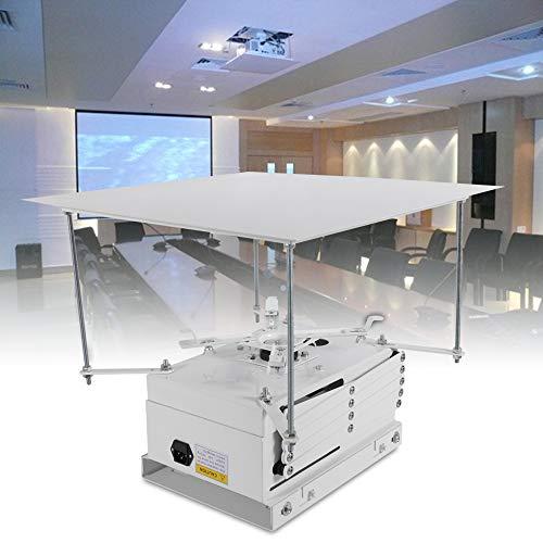 Projektorhalterung Lift Deckenhalterung Motorisiertes Beamer Deckenlift IR-Fernbedienung und Manuelle Steuerung Projektorheber 10kg 50 * 50cm