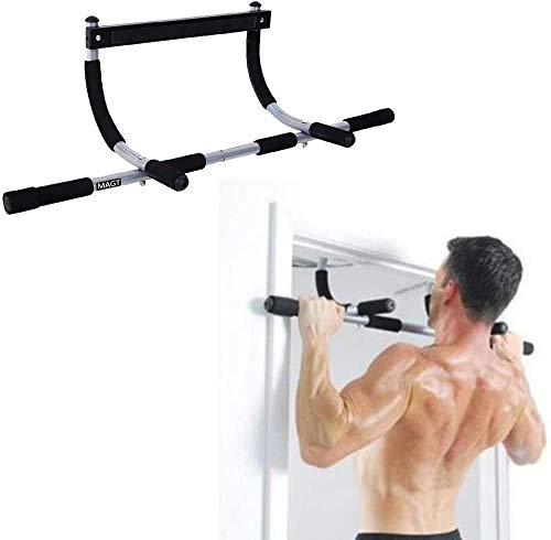 Barra para la barbilla, ejercicio de acondicionamiento físico MAGT Barra para levantar la puerta de la…