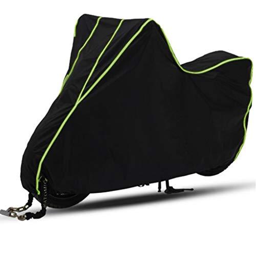 M-YN Bike Cover for 2 vélos, 190T Couverture en Nylon imperméable vélo Anti-poussière Pluie Protection UV for VTT/vélo de Route avec des Trous de Verrouillage-Sac de Rangement