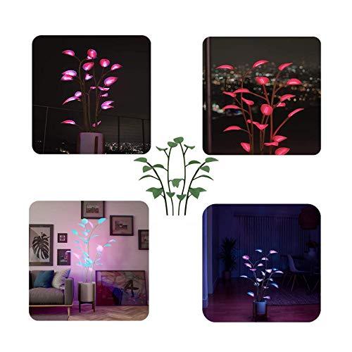Sllnkll La Planta de Interior LED Mágica,luz Decorativa de Hadas,luz de Planta de Interior Bonsai,para,Noches,Cenas, Reuniones,Decoración del Hogar en Interiores.