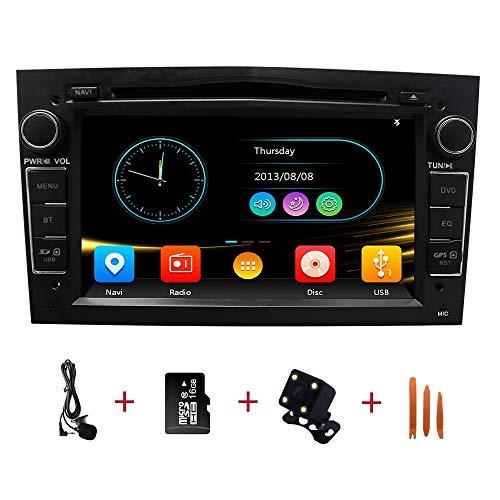 Autoradio In Dash Head Unit navigatie voor Opel Vauxhall, Corsa, Vectra, Antara, Meriva, Astra, Vivaro, Zafira, 7 inch touchscreen, 2-DIN Bluetooth met achteruitrijcamera, 16 GB SD-kaart, 3,5 mm microfoon