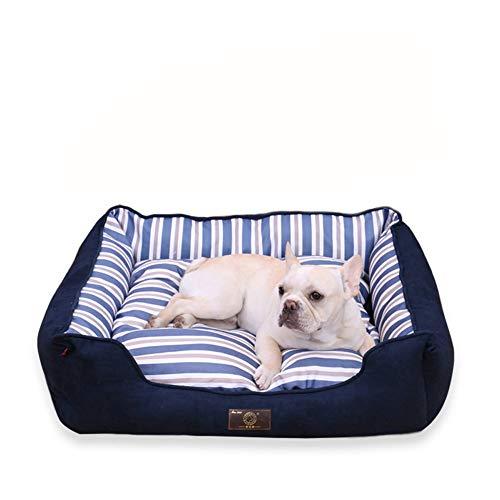 Hondenbed, wasbaar huisdiernest in de klem, Golden Retriever-hondenmat, universele warmer zwinger voor vier seizoenen, geschikt voor grote, middelgrote en kleine honden, blauwgroen optioneel, X-Large, blauw