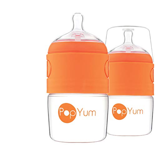 PopYum 5 oz Anti-Colic Formula Making/Mixing/Dispenser Baby Bottles, 2-Pack