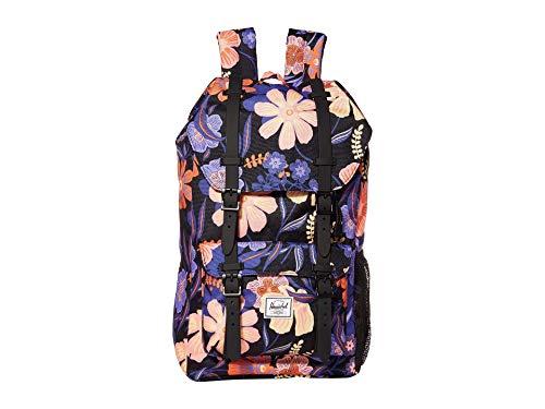 Herschel Kids' Little America Laptop Backpack, Night Floral Black, Youth 18.0L