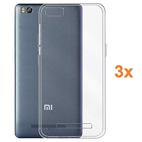 REY Pack 3X Cover in Gel TPU Trasparente per XIAOMI Mi4C / XIAOMI Mi4i - Mi 4C - Mi 4i, Ultra Sottile 0,33 mm, Morbido Flessibile, Custodia Silicone