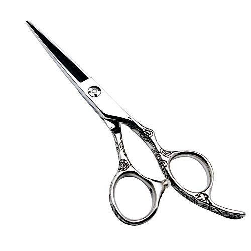 JKCKHA 6 Pulgadas Peluquero Profesional de peluquería Set Tijeras de peluquería, Tijeras 440C Rose Mango (Color: Plata)