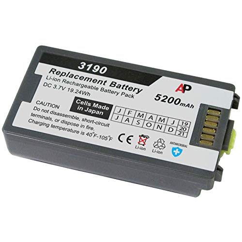 Artisan Power Batería de repuesto compatible con escáneres Motorola/Symbol MC3100 y MC3190. Capacidad extendida de 5200 mAh
