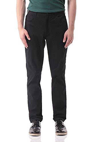 Pau1Hami1ton Herren Chino Hose, Stoffhose Aus Stretch Baumwolle Tapered Fit, PH-17(32, Black)