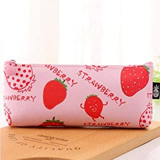 Zmond - Fruit Pencil Bag Papelaria Pu Pencil Case Stationery Material Escolor School Supplies [ A ]
