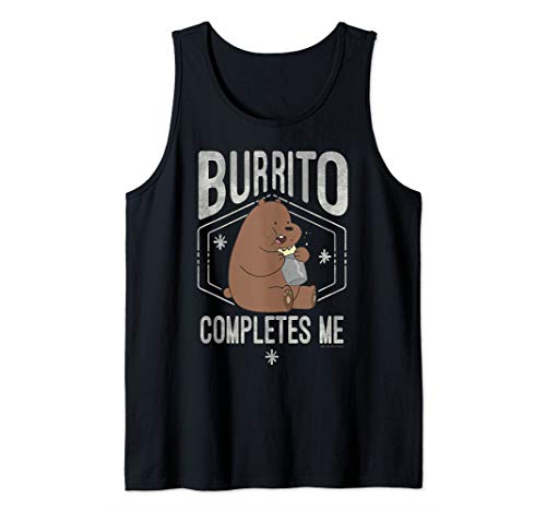 CN We Bare Bears Grizzly Burrito Completes Me Tank Top