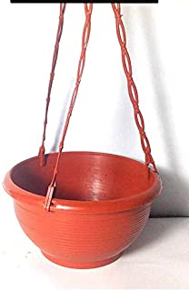 GARDENS NEED 110038 Plastic Venus Hanging Pot Set (Brown, 5-Pieces)