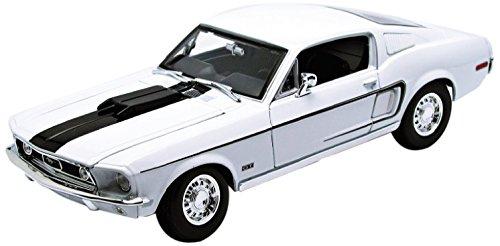 Maisto 31167 - Modellauto 1:18 Ford Mustang GT Cobra Jet 68, blau metallic