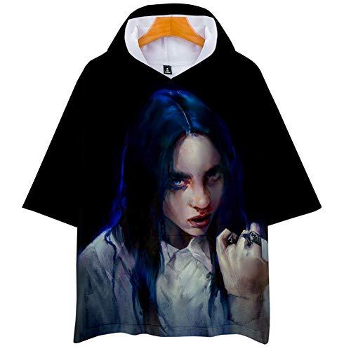 DJ002 Sport-Sweatshirt Billie Eilish Hoodie,Mädchen T-shirtLoose Plus Size Hoodie, 3D-bedruckter Hoodie Unisex (Color : #9, Size : XXL)